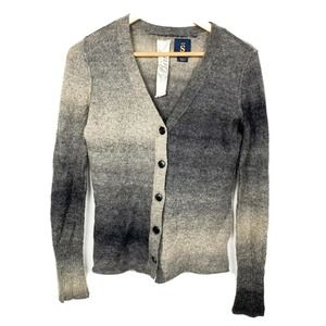 Bird Juicy Couture ombre wool mohair cardigan